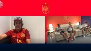 El curioso test de Alonso a Eric García, Pedri, Pau Torres y Gerard Moreno... con un premio especial