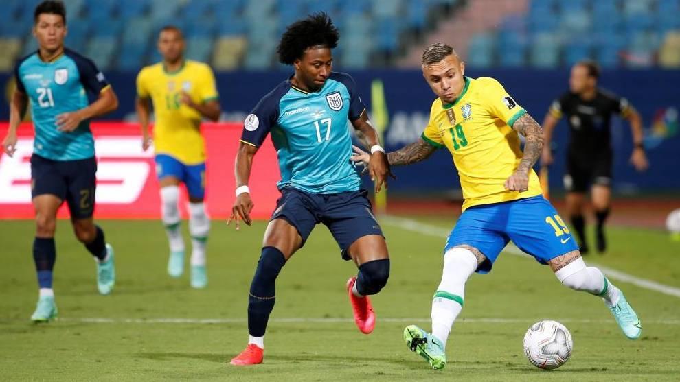 Golazo de Militao para poner por delante a Brasil