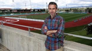 Jorge Vilda posa para MARCA en la Ciudad del Fútbol de Las Rozas.