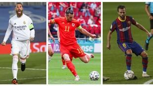 Sergio Ramos, Bale y Pjanic.