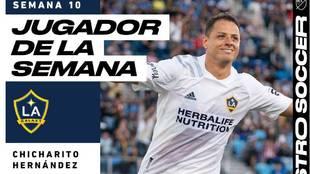 Chicharito Hernández, jugador de la semana con el LA Galaxy