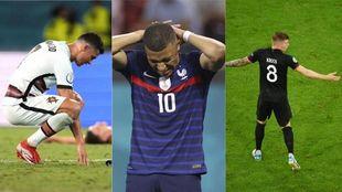 Ronaldo (36), Mbappé (22) y Kroos (31) han caído con sus respectivas...
