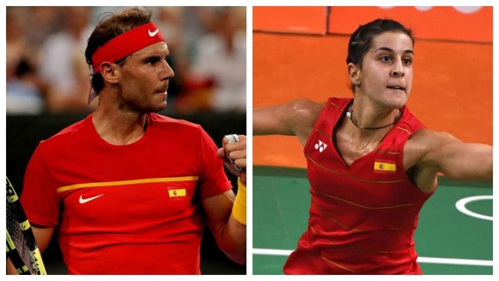 Rafa Nadal y Carolina Marín.