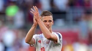 Dani Olmo, al término del partido ante Croacia.