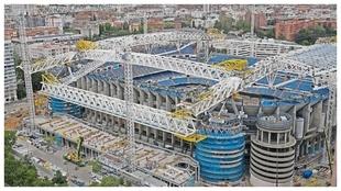 Imagen de las obras del Santiago Bernabéu