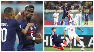 Los jugadores franceses mostraron una pésima imagen en el partido.