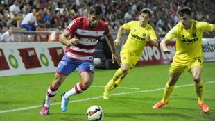 Adrián Marín (24) durante un partido del Granada esta pasada...