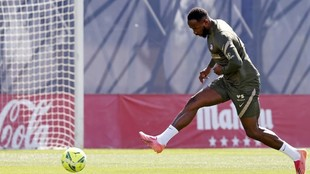 Dembele in training with Atletico