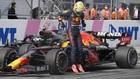 Max Verstappen, celebra su quinta victoria de la temporada en el Gran...