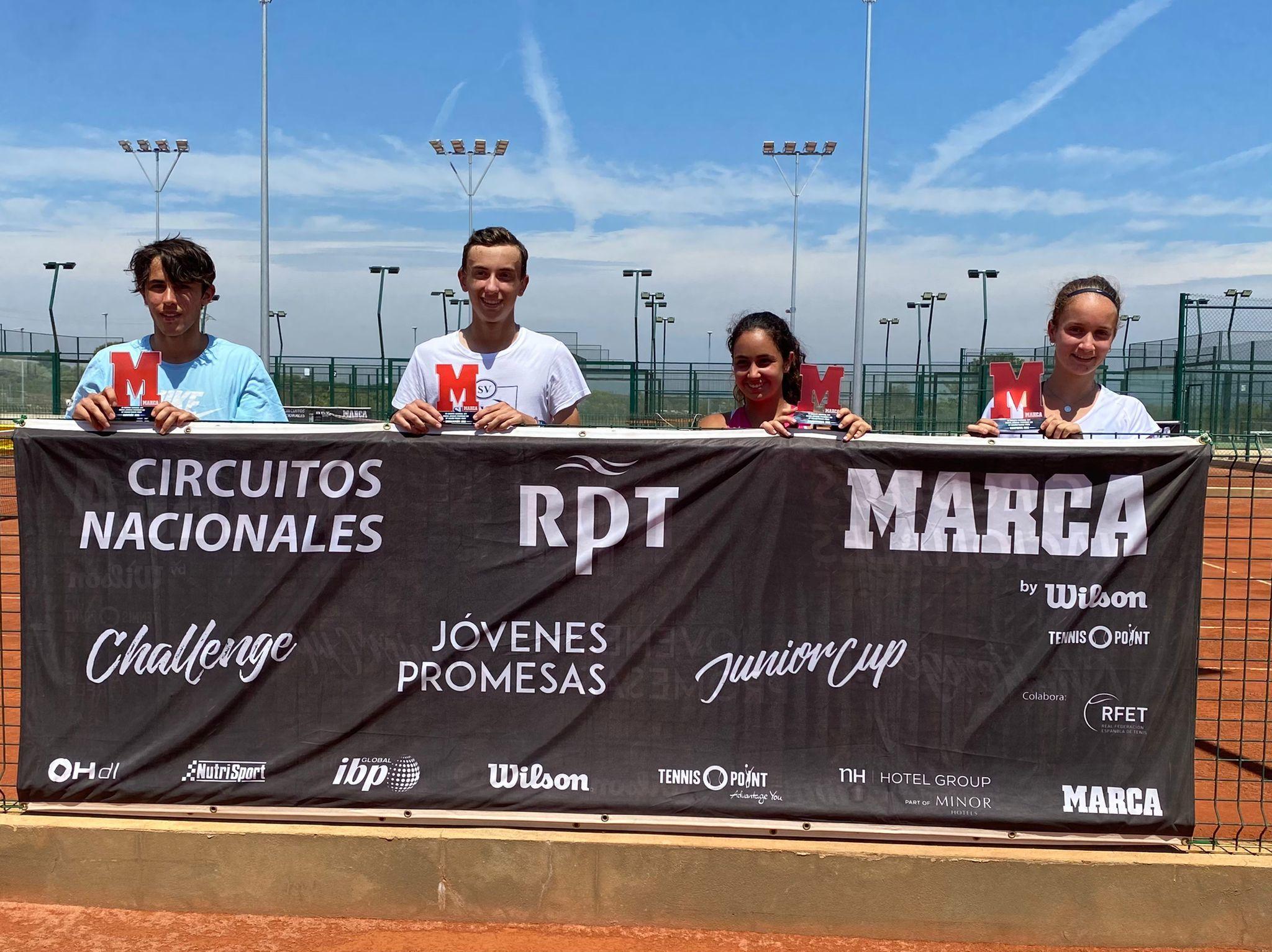 Campeones y finalistas del torneo cadete
