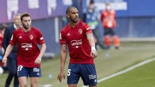 Jonás Ramalho, en un partido con Osasuna.