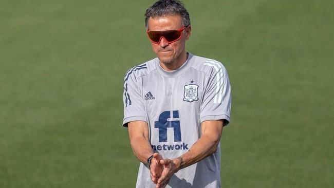 Luis Enrique, durante el entrenamiento del pasado sábado en la Ciudad...
