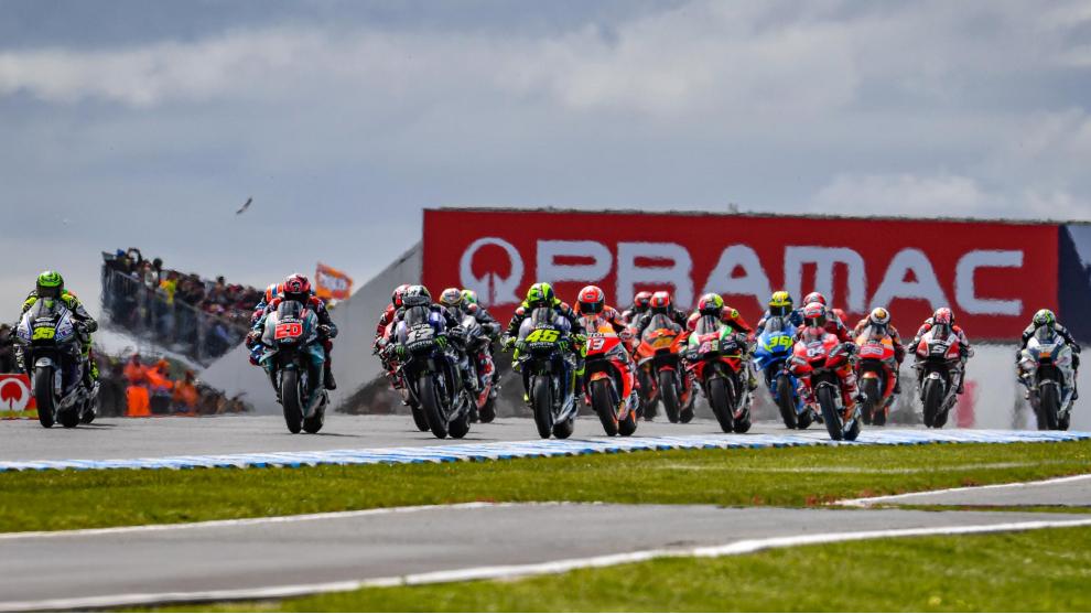 Un lance del último GP de Australia de MotoGP.