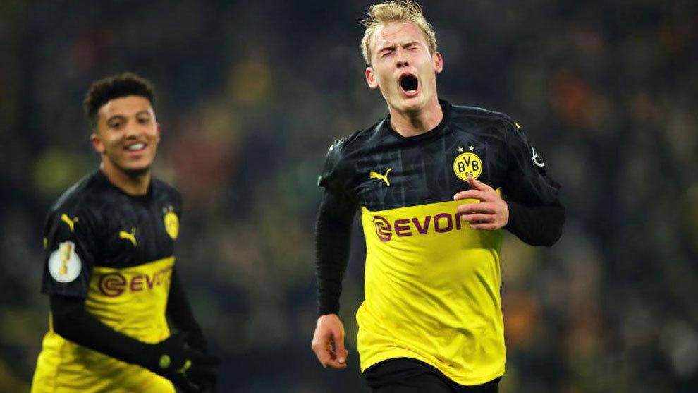 Julian Brandt junto a Jadon Sancho en el Borussia Dortmund.