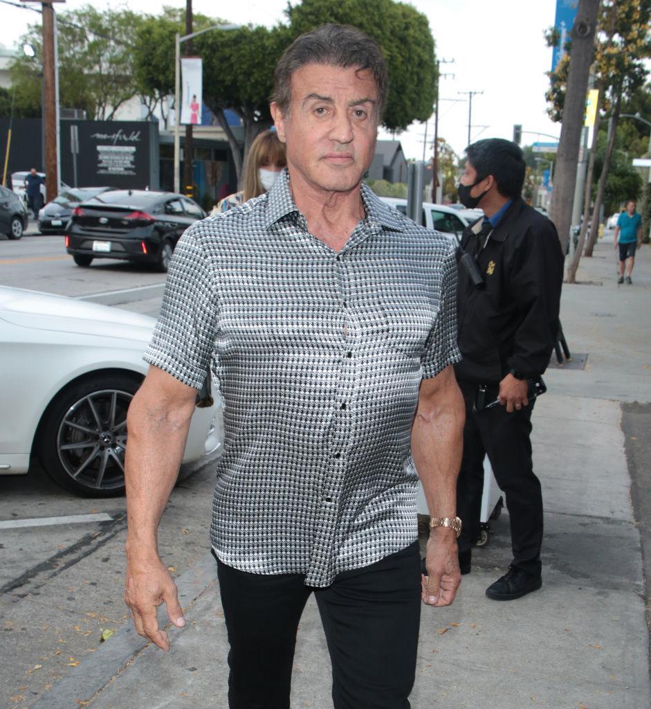 Sylvester Stallone, en la actualidad, durante un paseo por Los Ángeles /