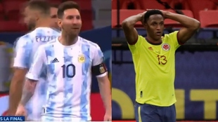 "Messi, a Yerry Mina: ""Bailá ahora, bailá ahora"""