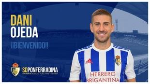 Dani Ojeda, nuevo futbolista de la Ponferradina