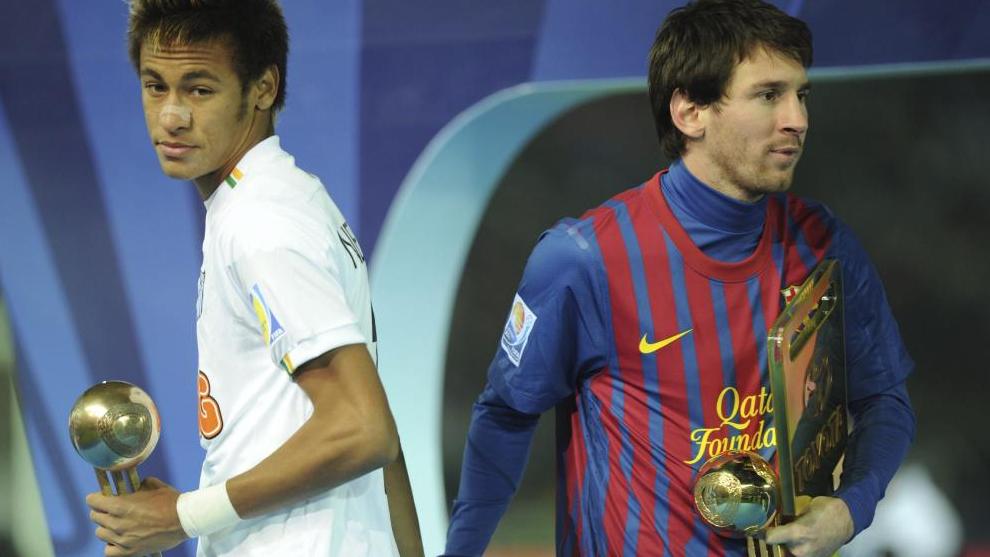 Neymar y Messi, en la edición de 2011 del Mundialito.