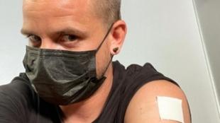Dabiz Muñoz tras recibir la vacuna y anunciarlo en su red social.