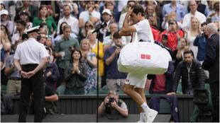 El triste adiós de Federer