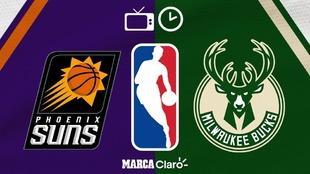 Suns vs Bucks en vivo