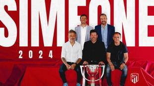 Diego Simeone extends Atletico Madrid contract