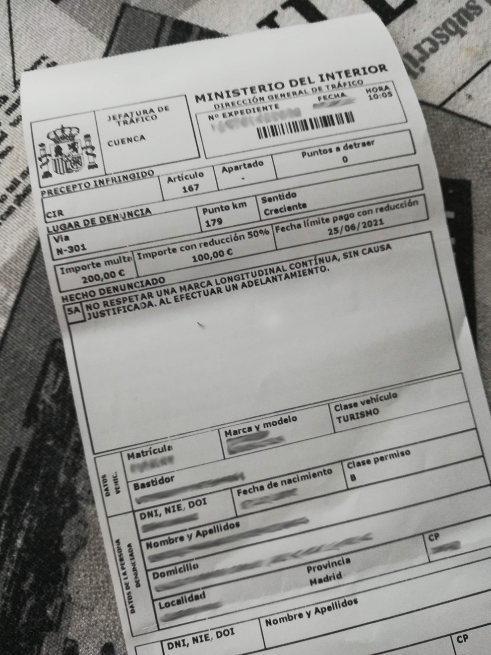 DGT - Trafico - Direccion General de Trafico - multas falsas - phising - correo electronico