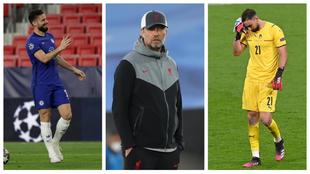 Giroud, Klopp y Donnarumma