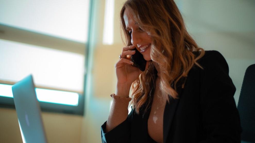 La piscóloga Lorena Cos, en su despacho