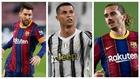 Messi, Cristiano y Griezmann protagonistas del mercado.