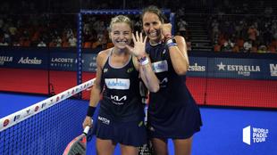 Gemma Triay y Alejandra Salazar, tras ganar su semifinal.