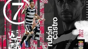 Rubén Castro finalmente se queda en el FC Cartagena.