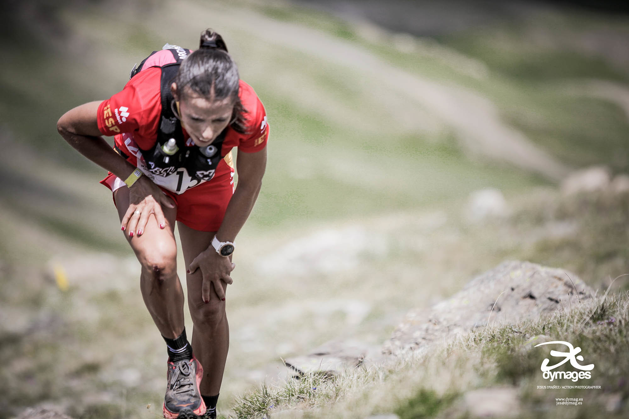 Gemma Arenas, en la carrera.