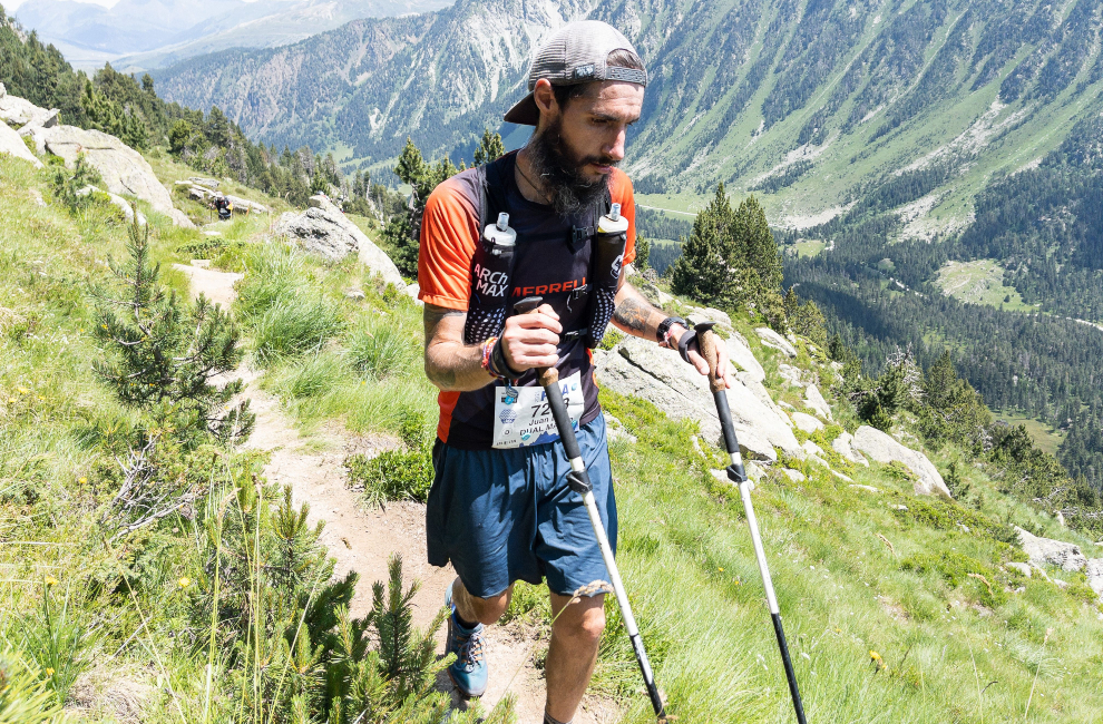 Juan Dual, durante la Val d'Aran by UTMB.