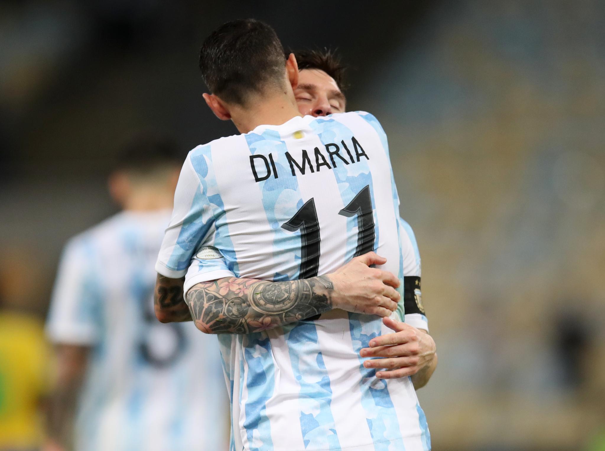 Di María anotó el único gol