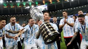 Messi gana la Copa Oro con Argentina.