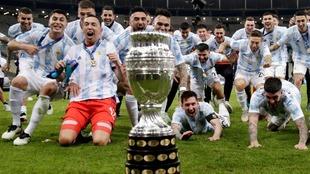 Argentina llega a los 15 títulos de Copa América.