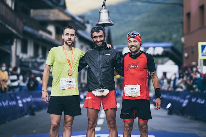 Isaac Salvat (2), Aritz Egea (1) y Daniel Colom (3): los tres primeros clasificados de la CDH.