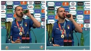 Ni Cristiano ni Pogba: Bonucci se bebe la coca-cola y la cerveza