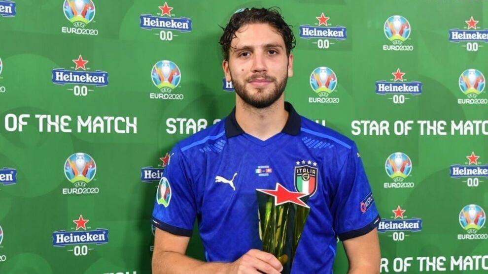 Manuel Locatelli nombrado Mejor Jugador del Partido contra Suiza.