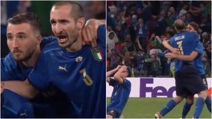 """El grito de Chiellini a Saka en el último penalti: """"¡Kiricocho!"""""""