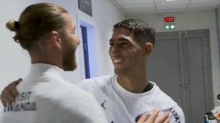 Así fueron los saludos de Ramos a sus nuevos compañeros... con mensaje a Achraf