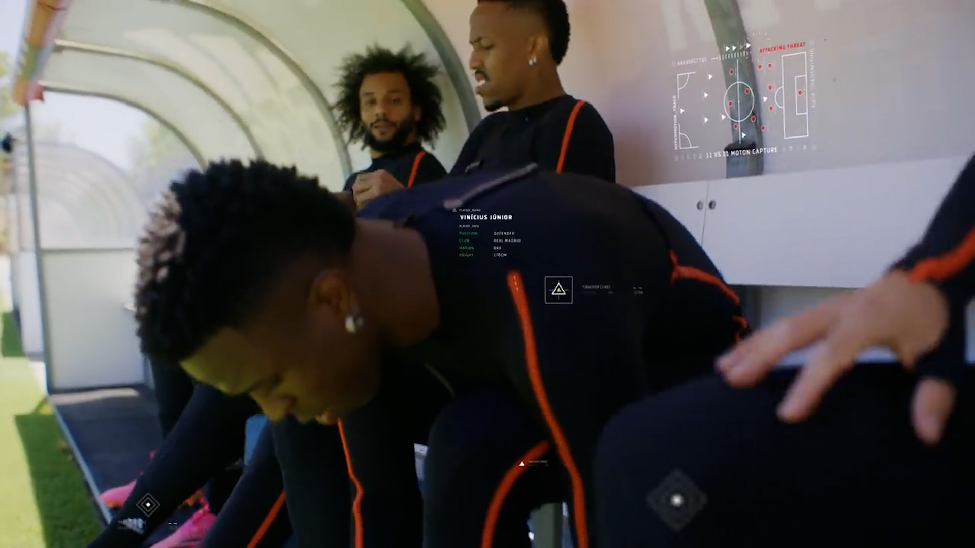 Jugadores del Real Madrid durante la captura de imágenes para HyperMotion en FIFA22