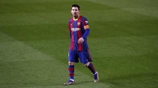 Messi, durante un partido de la temporada pasada