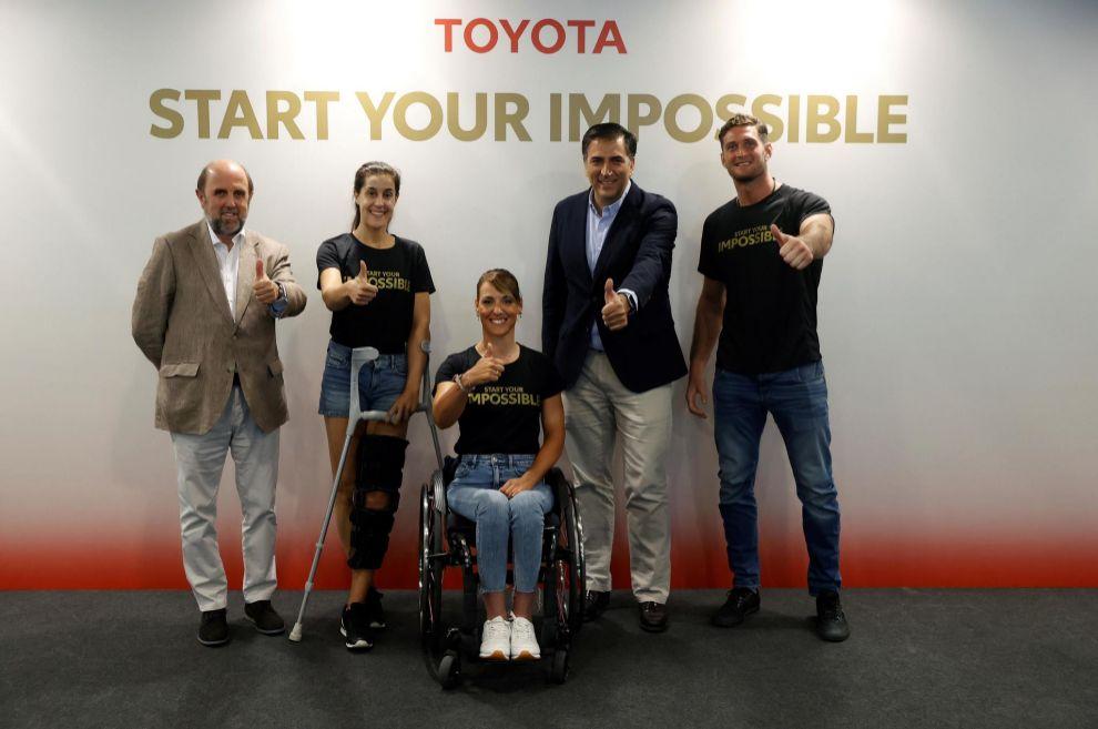 Carolina Marin - Eva Moral - Miguel Carsi - Nico Shera - equipo Toyota - tokio 2020