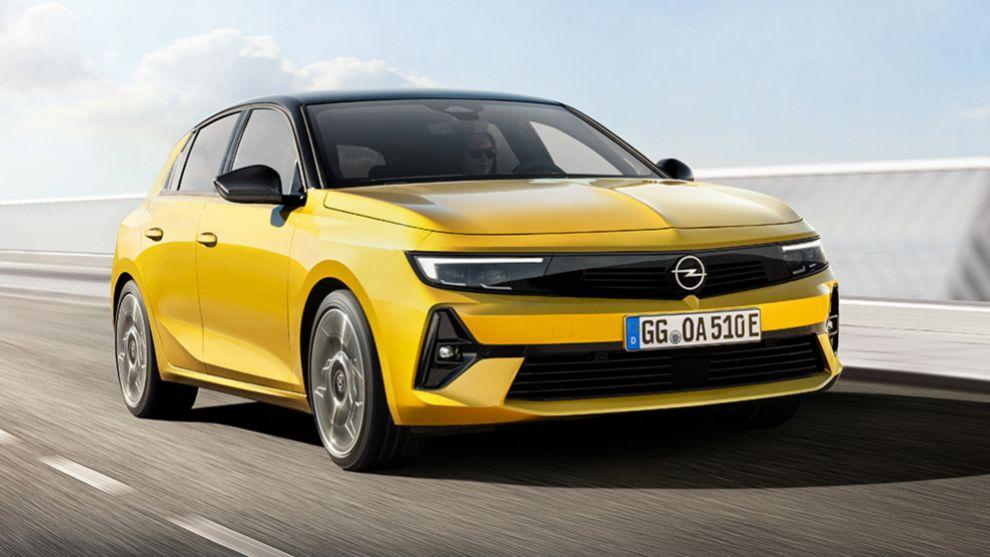 Opel Astra - Opel Astra 2022 - compacto - sexta generacion - híbrido - Opel Vizor