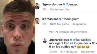 """El 'troleo' de Piqué a Casillas: """"¿Mounguer? Eso es lo que decía Flo de ti en los audios, ¿no?"""""""