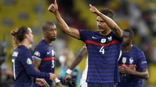 Varane, en un partido con Francia de la Eurocopa.