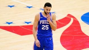 Ben Simmons, durante un partido de los Sixers.