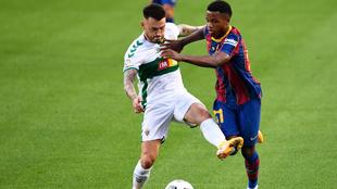 Josan en un partido contra el Barcelona